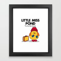 Little Miss Pond Framed Art Print