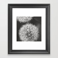 Dandelion Wishes Framed Art Print