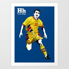 H is for Hagi Art Print