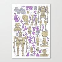 ROBOTIC / ORGANIC  Canvas Print