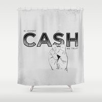 In Johnny Cash We Trust. Shower Curtain
