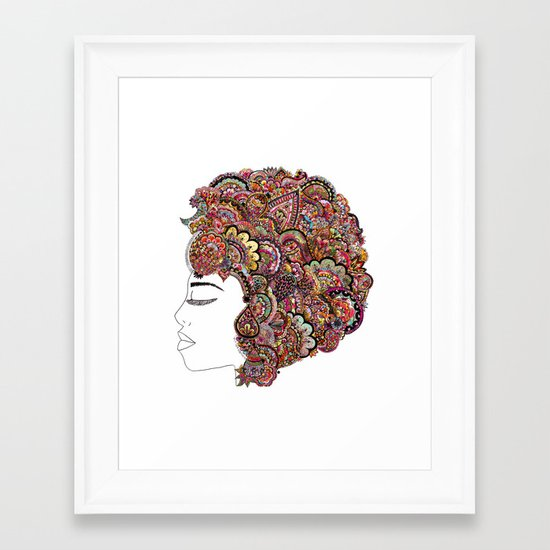 Her Hair - Les Fleur Edition Framed Art Print