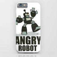iPhone & iPod Case featuring Angry Robot by David Finley