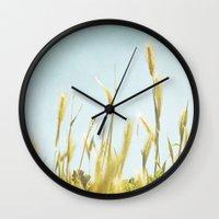 Hazy Lazy Skies Wall Clock