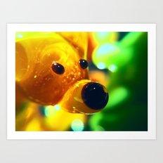 Yellow Glass Bear Art Print
