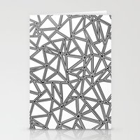 Abstract New Black On Wh… Stationery Cards