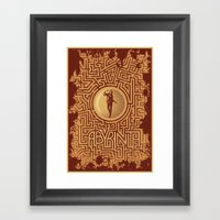 Labyrinth Poster Framed Art Print
