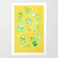 Dirty Kitchen Tools  Art Print