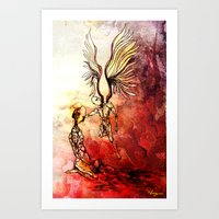 Syrian mom, a mother of angels Art Print