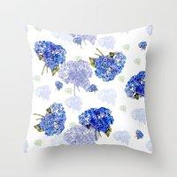 Hydrangea Nosegays Throw Pillow
