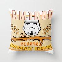Stormtrooper College Tee Throw Pillow