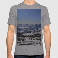 Pyramid Peak Mens Fitted Tee Athletic Grey SMALL