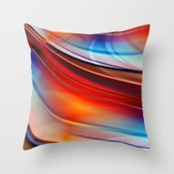Glowing Waves  Throw Pillow