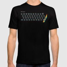 Pixel Spectrum Black SMALL Mens Fitted Tee