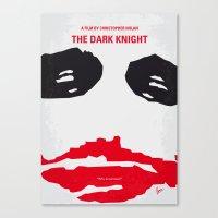 No245 My Dark minimal Knight movie poster Canvas Print