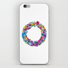 O Letter Floral iPhone & iPod Skin