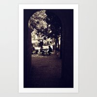 Hassidic Man in Jerusalem Art Print