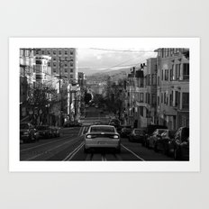 Black and White San Francisco Street Photography Art Print