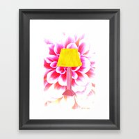 Lamp Shade Flower Illust… Framed Art Print