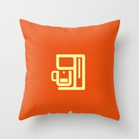 Coffee: The Machine Throw Pillow