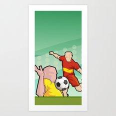 Soccer game Art Print
