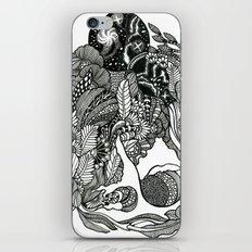 Aquarius Rising Black and White Doodle Art iPhone & iPod Skin