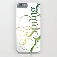 iPhone & iPod Case featuring Spring Lettering by Ivana Catovic