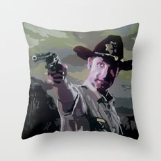 Rick Grimes Throw Pillow