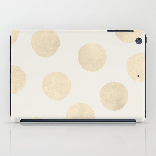 Gold Polka Dots iPad Case