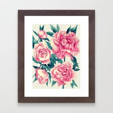 Peonies (soft tone) Framed Art Print