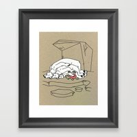 Sleeping Bears Framed Art Print