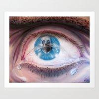 Death in the eyes Art Print
