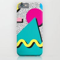 Abstract 1980's iPhone 6 Slim Case