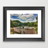 Central Park Postcard Framed Art Print