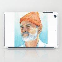 Steve Zissou Art | Watercolor Portrait iPad Case