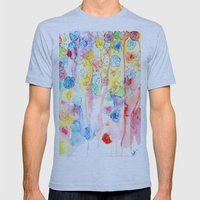 IN BLOOM  Mens Fitted Tee Athletic Blue SMALL
