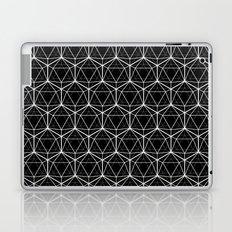 Icosahedron Pattern Black Laptop & iPad Skin