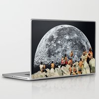 collage Laptop & iPad Skins featuring MOONRISE  by Beth Hoeckel