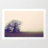 Tree in Fog Art Print