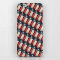 Retro style Texas state flag pattern iPhone & iPod Skin