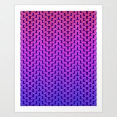 Rick Rack Pink Ombre Art Print