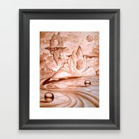 Earth Semi  Framed Art Print