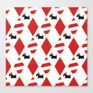 Scottie Dog Christmas Pa… Canvas Print