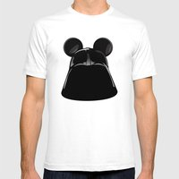 Darth Mickey  Mens Fitted Tee White SMALL