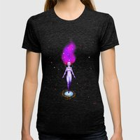 Universe God Womens Fitted Tee Tri-Black SMALL