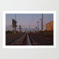 Art Print featuring Autumn railroad by Vorona Photography