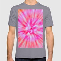 TIE DYE Mens Fitted Tee Slate SMALL