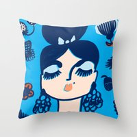 Diamonds And Pearls In Y… Throw Pillow