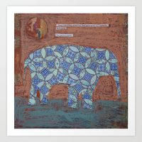 Elephant Dreams Art Print