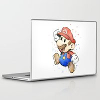 mario Laptop & iPad Skins featuring Mario by Olechka